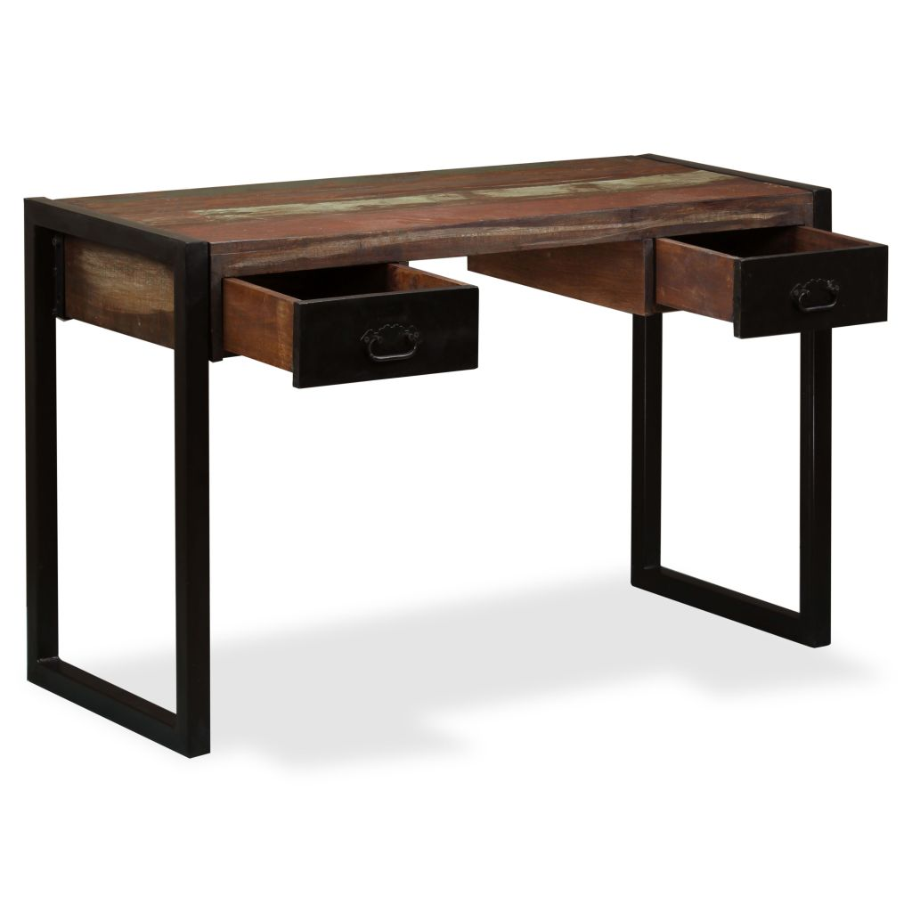 low priced 63af7 475bb H4home Industrial Office Desk with 2 Drawers Solid Reclaimed Wood | H4Home  Furnitures