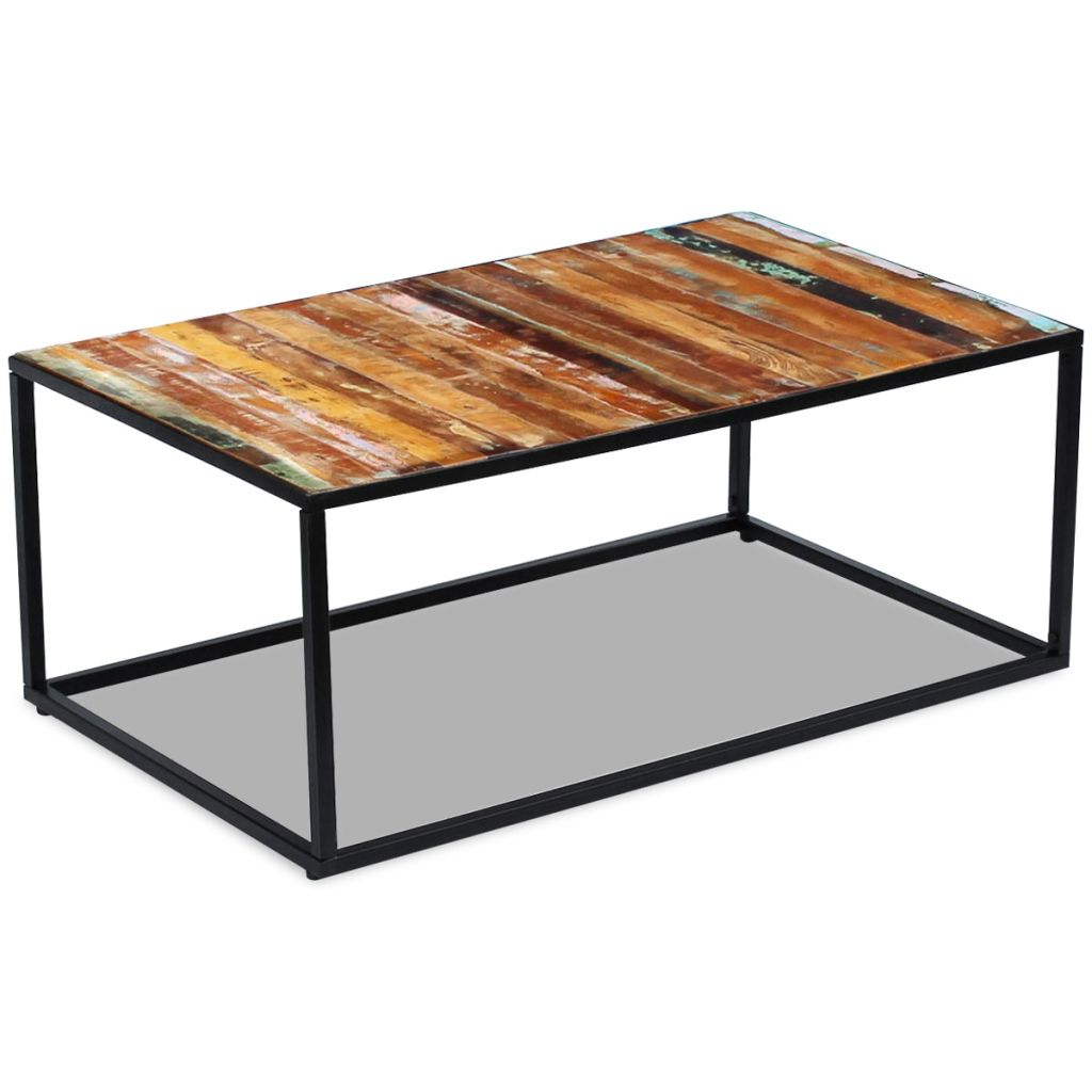 H4home Industrial Coffee Table Solid Reclaimed Wood Vintage
