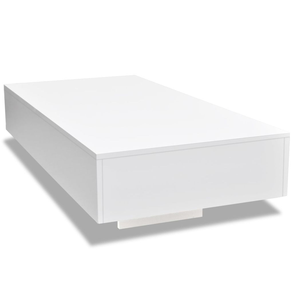 H4home White High Gloss Large Coffee Table H4home Furnitures