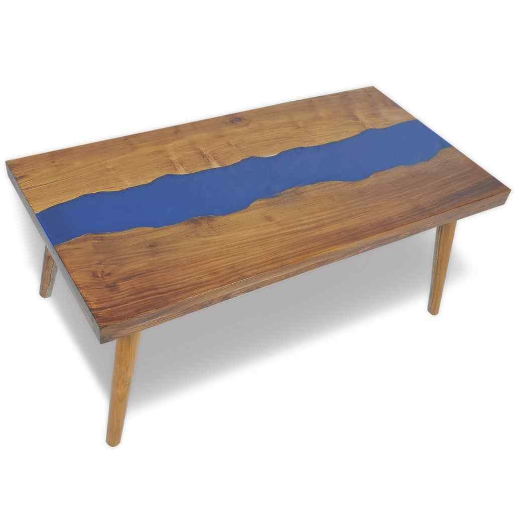 Vidaxl Coffee Table Teak Resin: H4home River Coffee Table Teak Resin Unique Furniture