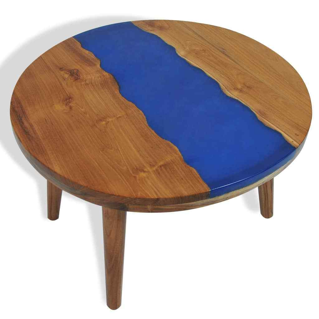 H4home River Round Coffee Table Teak Resin Unique Furniture