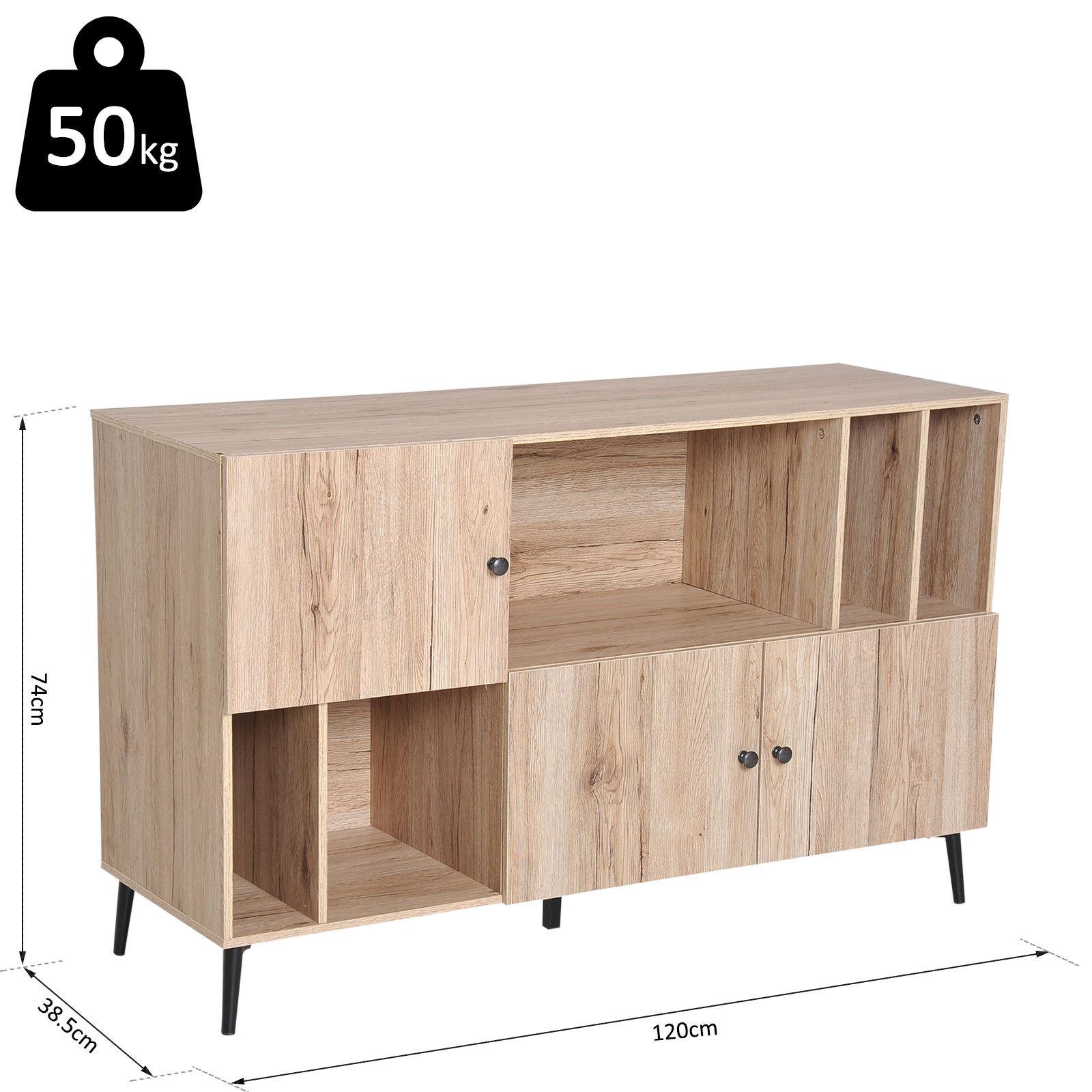 finest selection 3ec21 b0d0b Scandinavian Sideboard Cabinet Buffet Storage Metal Legs Oak | H4Home  Furnitures