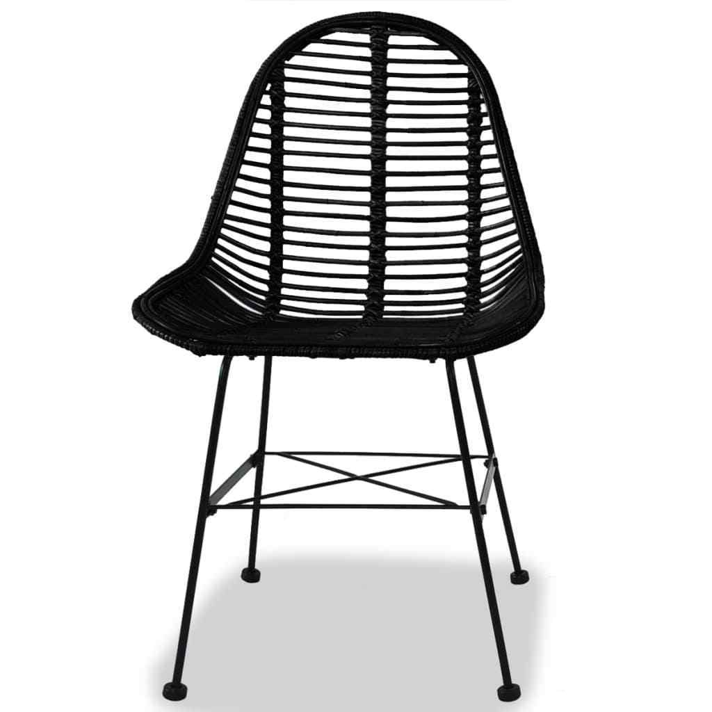 Tremendous H4Home Set Of 2 Rattan Dining Chairs Iron Legs Black H4Home Furnitures Ncnpc Chair Design For Home Ncnpcorg