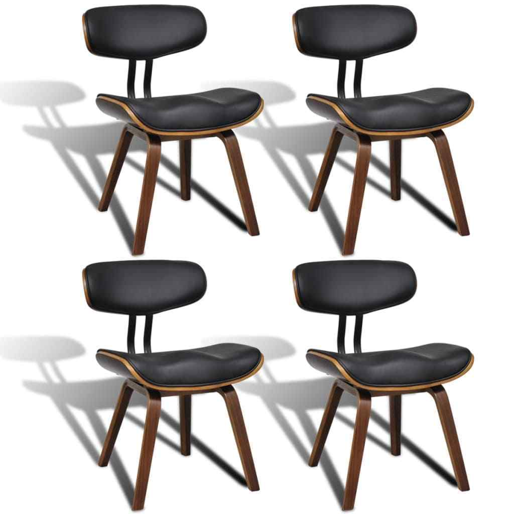 H4home Set Of 4 Unique Dining Chairs With Backrest