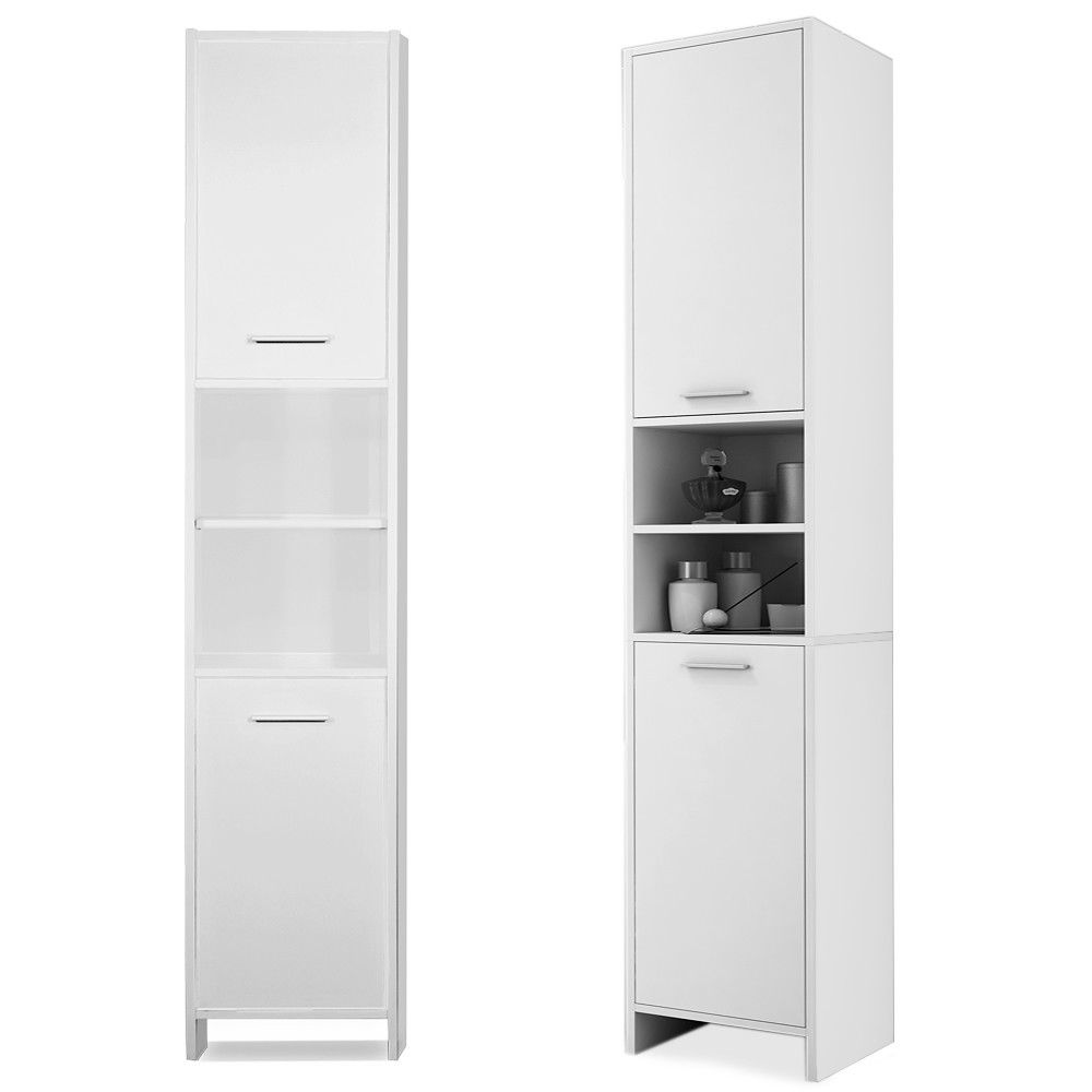 H4home Tall Bathroom Cabinet Free Standing Cupboard