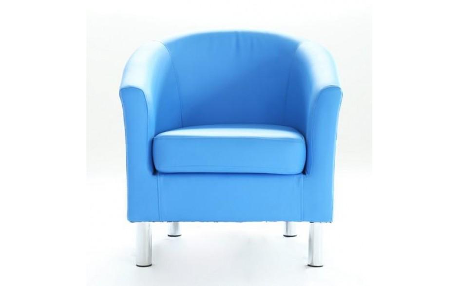 Astonishing H4Home Modern Tub Chair Armchair Pu Faux Leather Chrome Leg Lounge Living Room Office Blue Dailytribune Chair Design For Home Dailytribuneorg
