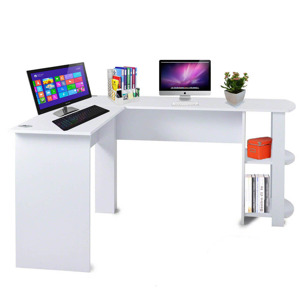 Corner Office Desk Home Laptop Table Workstation Computer: H4home Large Corner Computer Desk Home Office L-Shaped