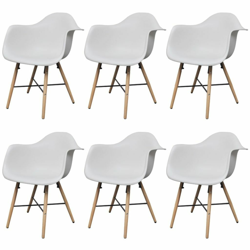 Fine H4Home Set Of 6 Eiffel Style Dining Chair Wood Leg In White Bralicious Painted Fabric Chair Ideas Braliciousco