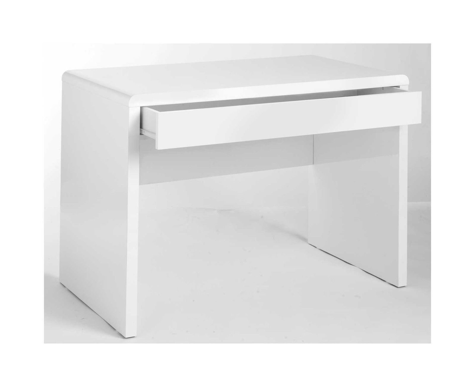 H4home White High Gloss Computer Desk With 1 Large Drawer Modern H4home Furnitures
