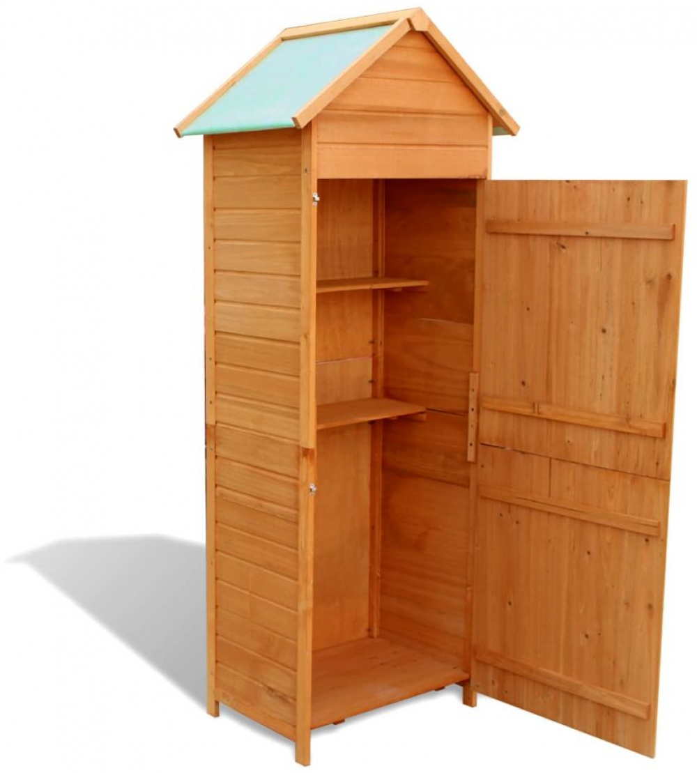 Waterproof Wood Storage Box: H4home Garden Tall Wooden Cabinet Shed Storage Box