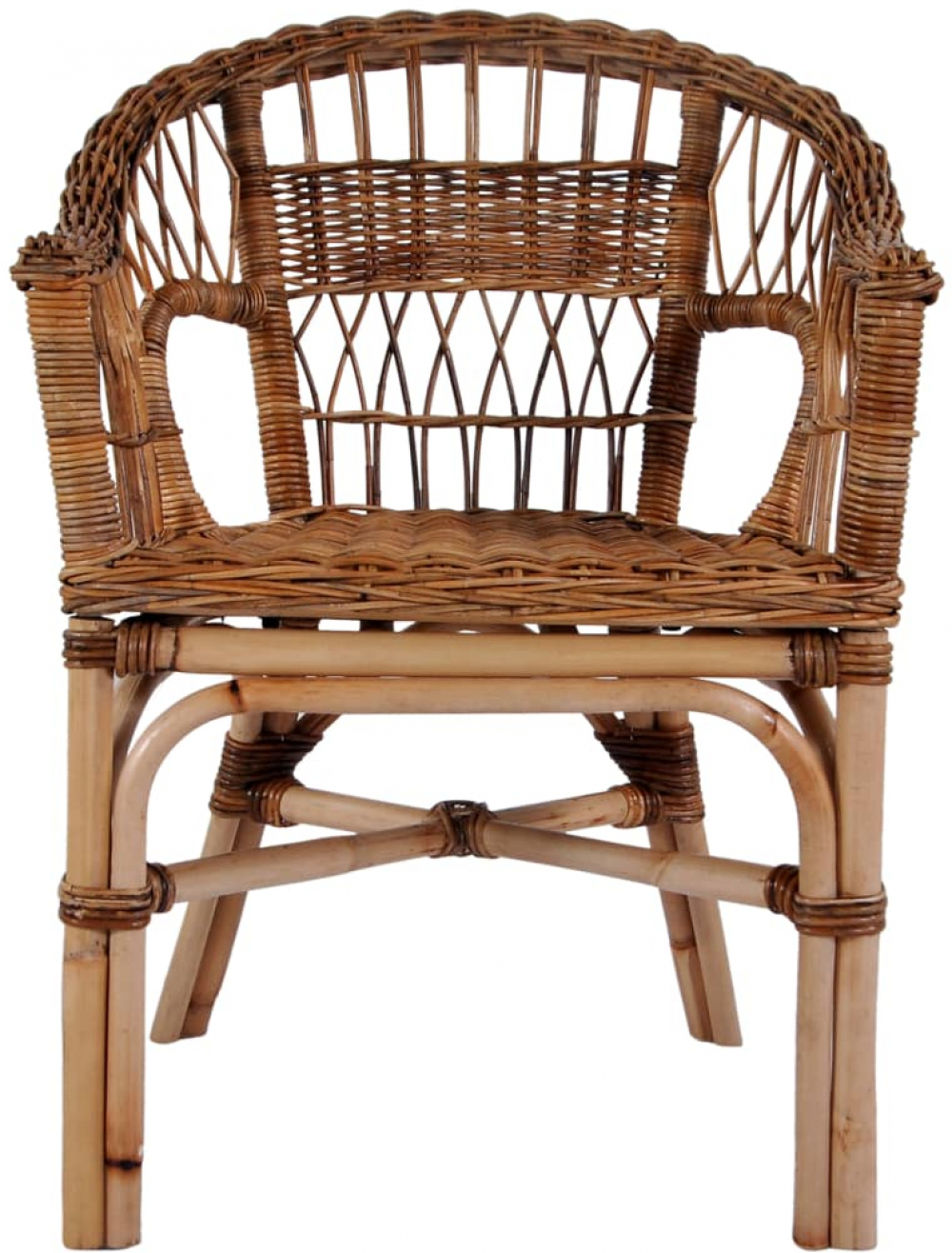 H4home Garden Vintage Rattan Dining Chair Brown