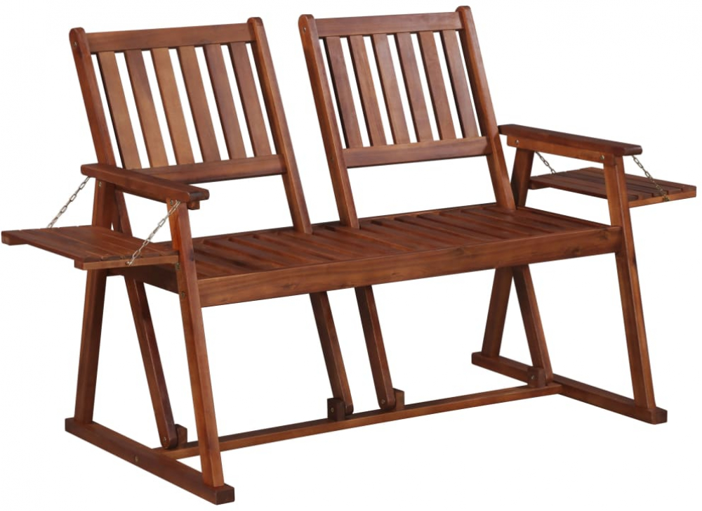 H4home Outdoor 2 Seater Wooden Bench Garden Furniture