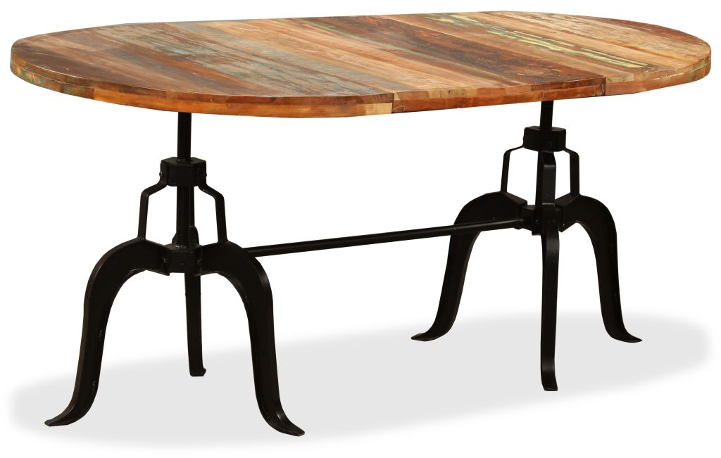 H4home Vintage Industrial Large Dining Table Reclaimed ...
